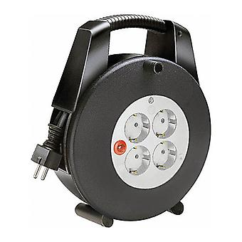 Brennenstuhl 4xCEE cable reel 7/4, 1xCEE 7/7, IP 44, switches, 10 m, black