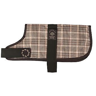 Padded Waterproof Coat Brown Check 20cm (8