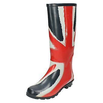 Dame plet på Unionens Flag gummistøvler