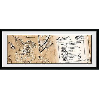 Fantastiske dyr Thunderbird indrammet Collector Print