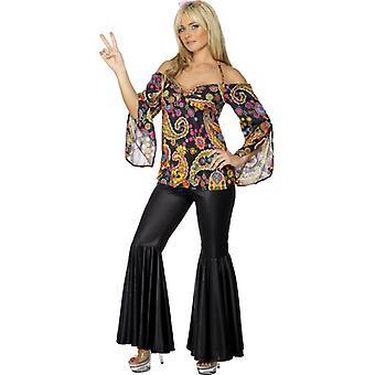 Hippie kostyme damer 60s hippie flower power