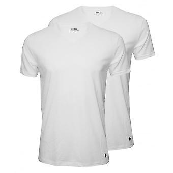 Polo Ralph Lauren klassiek katoen 2-Pack v-hals T-Shirts, wit
