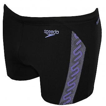 Speedo Endurance + Monogram Aqua kort, zwart/Sport paars
