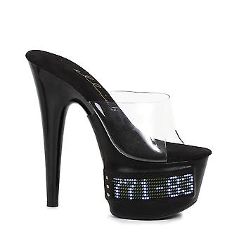 Ellie Shoe E-709-VANITY-LED 7 Pointed Stiletto Mule with scrolling LED