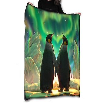 Wild Star Hearts - PENGUIN AURORA - Fleece / Throw / Tapestry