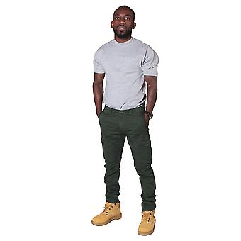 Men's Trousers with Cargo Pockets – Khaki Green Cargo pants fashion trousers
