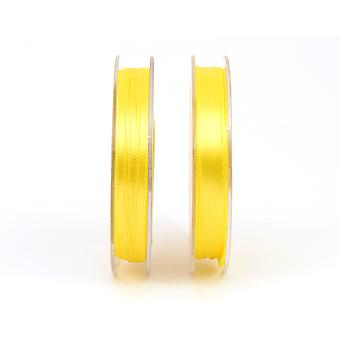 3mm Polyester Satin Craft Ribbon - 10m Reel - Bright Yellow