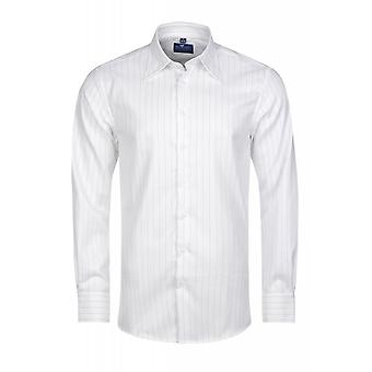 DERBY OF SWEDEN shirt men's pin-striped shirt White regular