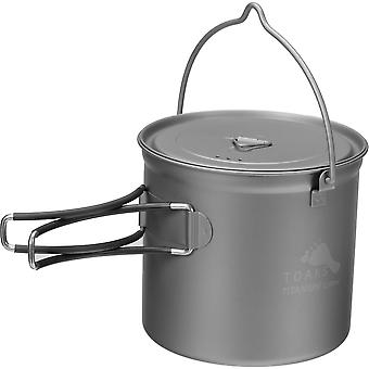 TOAKS 1100ml Titanium Camping Cooking Pot with Bail Handle and Lockable Lid