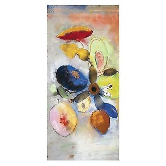 Fleurs plakat Print af Odilon Redon (20 x 40)