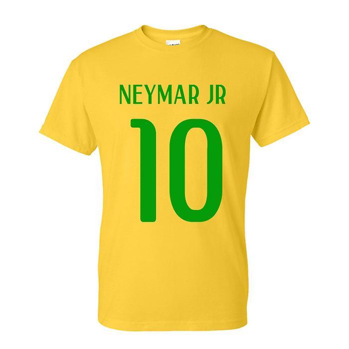 Neymar Jr Brasil Héroe camiseta (amarilla)