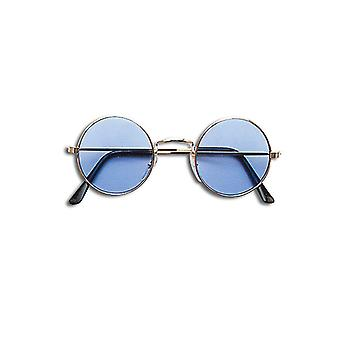 Lennon Glasses - Blue/Gold Frame