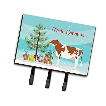 Carolines Treasures  BB9194TH68 Ayrshire Cow Christmas Leash or Key Holder