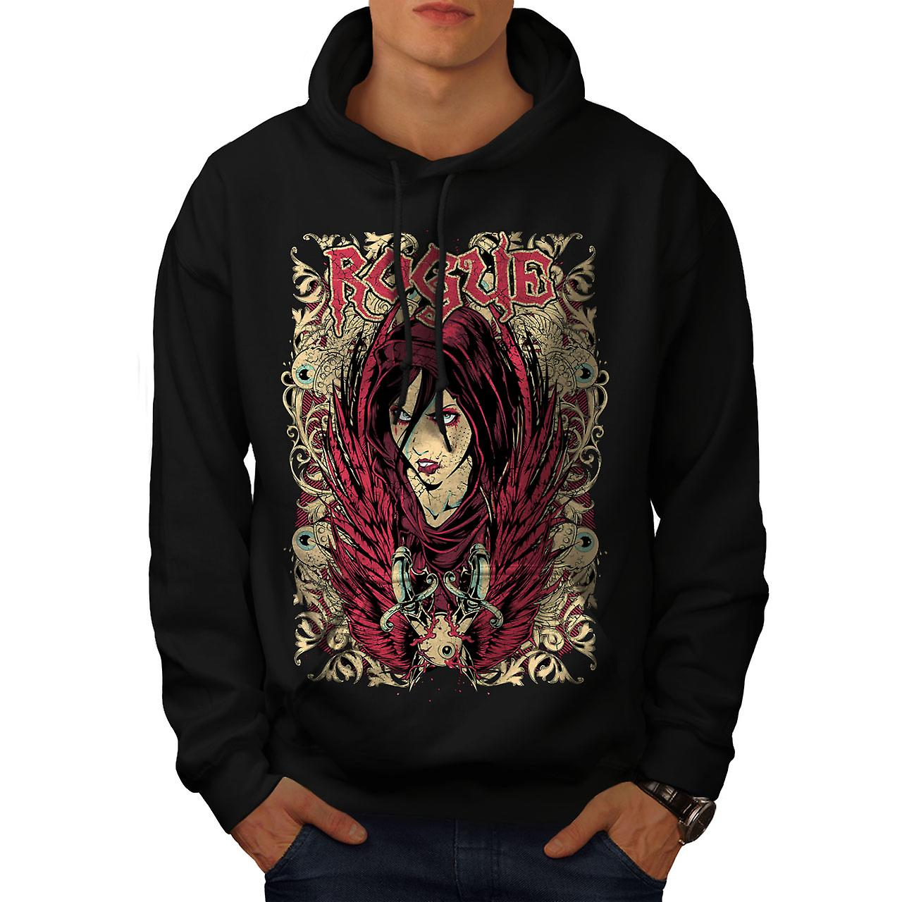 Girl Goth Punk Fashion Men Black Hoodie | Wellcoda