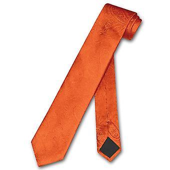 Vesuvio Napoli schmale Krawatte solide Paisley 2,5