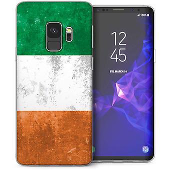 Samsung Galaxy S9 Retro Irland flagg TPU bærevesken-grønn