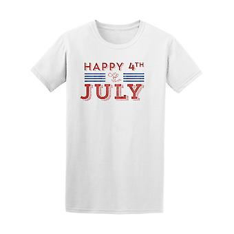 Happy 4Th Of July Red Blue Tee Men's -Image by Shutterstock