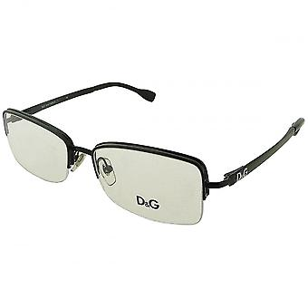 Dolce & Gabbana Dolce & Gabbana Men's Black Semi Rimmed Rectangular Glasses