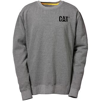 Caterpillar Herren Marke Rundhals Sweatshirt Grau