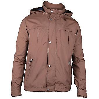 Caterpillar Mens Flux Light Hooded Water Resistant Casual Jacket Coat