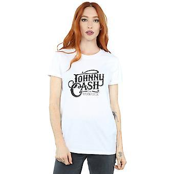 Johnny Cash Women's The Man In Black Logo Boyfriend Fit T-Shirt