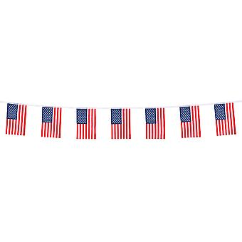 Boland American Flag Polyester Party Celebration Bunting 4m