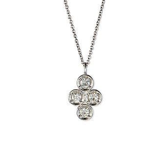Forever Classic Round 3.25mm Moissanite Clover Necklace, 0.52cttw DEW