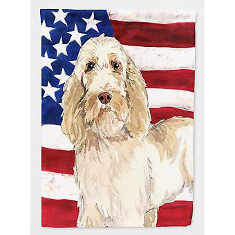 Patriotic USA Spinone Italiano Flag Canvas House Size