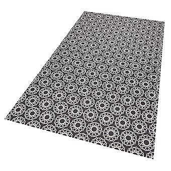 Vinyl floor protection mat Joëlle dark blue