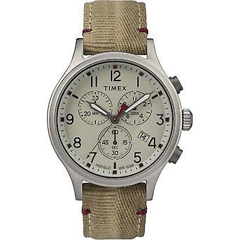 Timex mens watch Allied chronograph 42 mm fabric bracelet TW2R60500