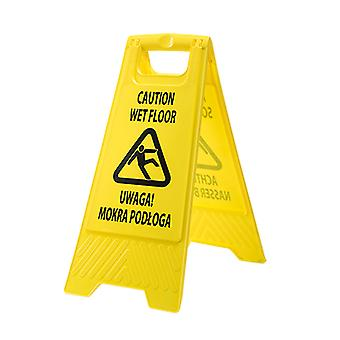 sUw - Euro Multilingual Wet Floor Warning Sign