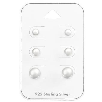 4mm, 6mm, 8mm runde - 925 Sterling sølv sett - W35237x