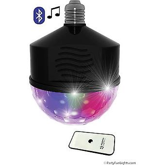 LED Party light with loudspeaker LED Bluetooth E27 8 W Multi-colour No. of bulbs: 1