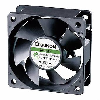 Sunon MB60251V1-0000-A99 Axial fan 12 Vdc 39.92 m³/h (L x W x H) 60 x 60 x 25 mm
