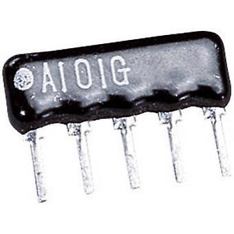 Resistor ladder 100 Ω Radial lead SIP 4+1 0.125 W 1 pc(s)