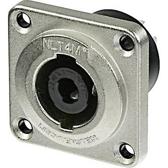 Neutrik NLT4MP Audio jack Sleeve socket, straight pins Number of pins: 4 Silver 1 pc(s)