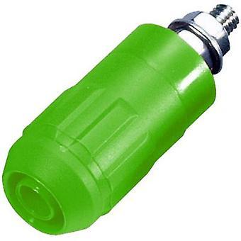 Jack socket Socket, vertical vertical Pin diameter: 4 mm Green S