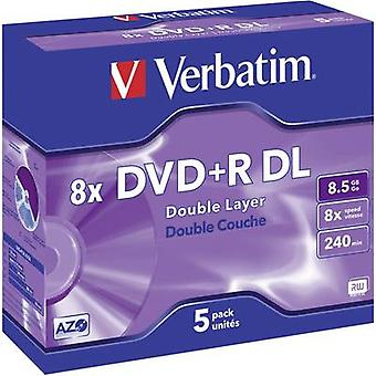 Blank DVD+R DL 8.5 GB Verbatim 43541 5 pc(s) Jewel