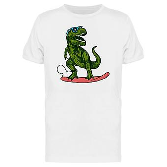 Happy Dinosaur Surfer Sunglasses Tee Men's -Image by Shutterstock