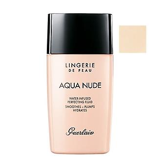 Guerlain Lingerie De Peau Aqua Nude Water-Infused Perfecting Fluid SPF 20 00N Porcelain 1.0oz / 30ml