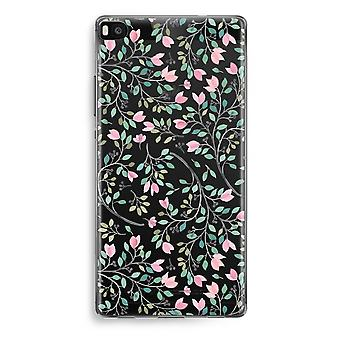 Huawei Ascend P8 Transparent Case (Soft) - Dainty flowers