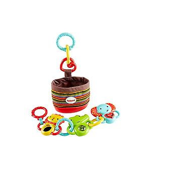 Fisher Price Link-n-Go Play Pack, Activity Toy with Mirror, Rattle & Sounds
