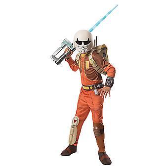 Ezra Bridger 3 stykke Deluxe kostyme Star Wars opprørerne opprinnelige for barn