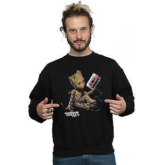 Guardiani di Marvel maschile di Groot il Galaxy nastro Sweatshirt
