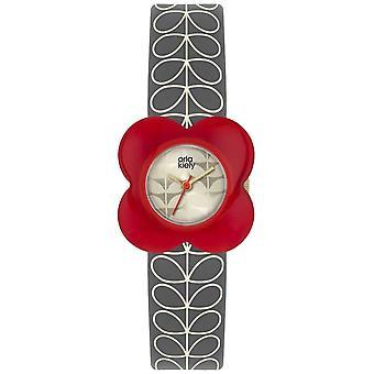Orla Kiely | Ladies Poppy | Red Case | Grey Stem Print Strap | OK2282 Watch