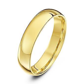 Anneaux de mariage Star 9ct Cour de lumière or jaune forme 4mm bague de mariage