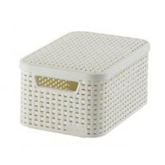 Curver Style basket S with cover ivory