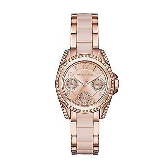 Michael Kors Watches Mk6175 Mini Blair Two Tone Rose Gold Stainless Steel Ladies Watch