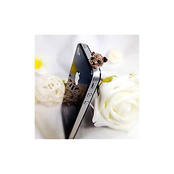 Accessory SmartPhone Panda gold Rose and Crystal jewelry