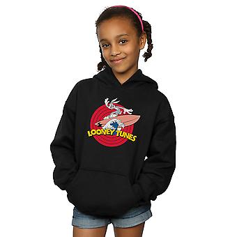 Looney Tunes Girls Bugs Bunny Surfing Hoodie